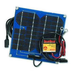 Solar panel that reguvinates trailer batteries