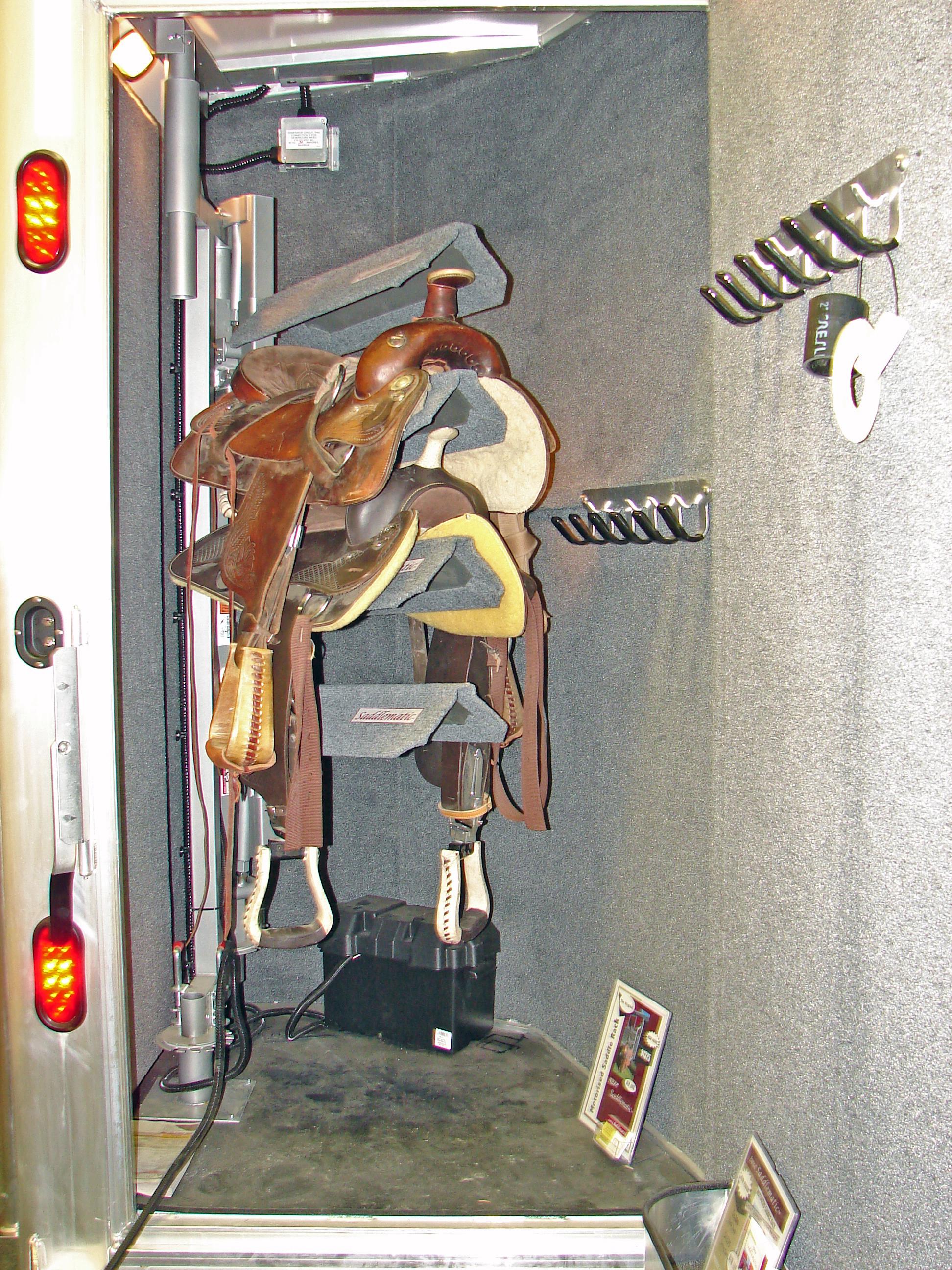 Saddlematic Trailer Power Saddle Rack