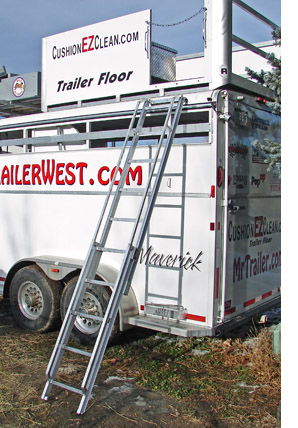 Step Above trailer aluminum ladder for horse trailers - welcome to mrtrailer.com