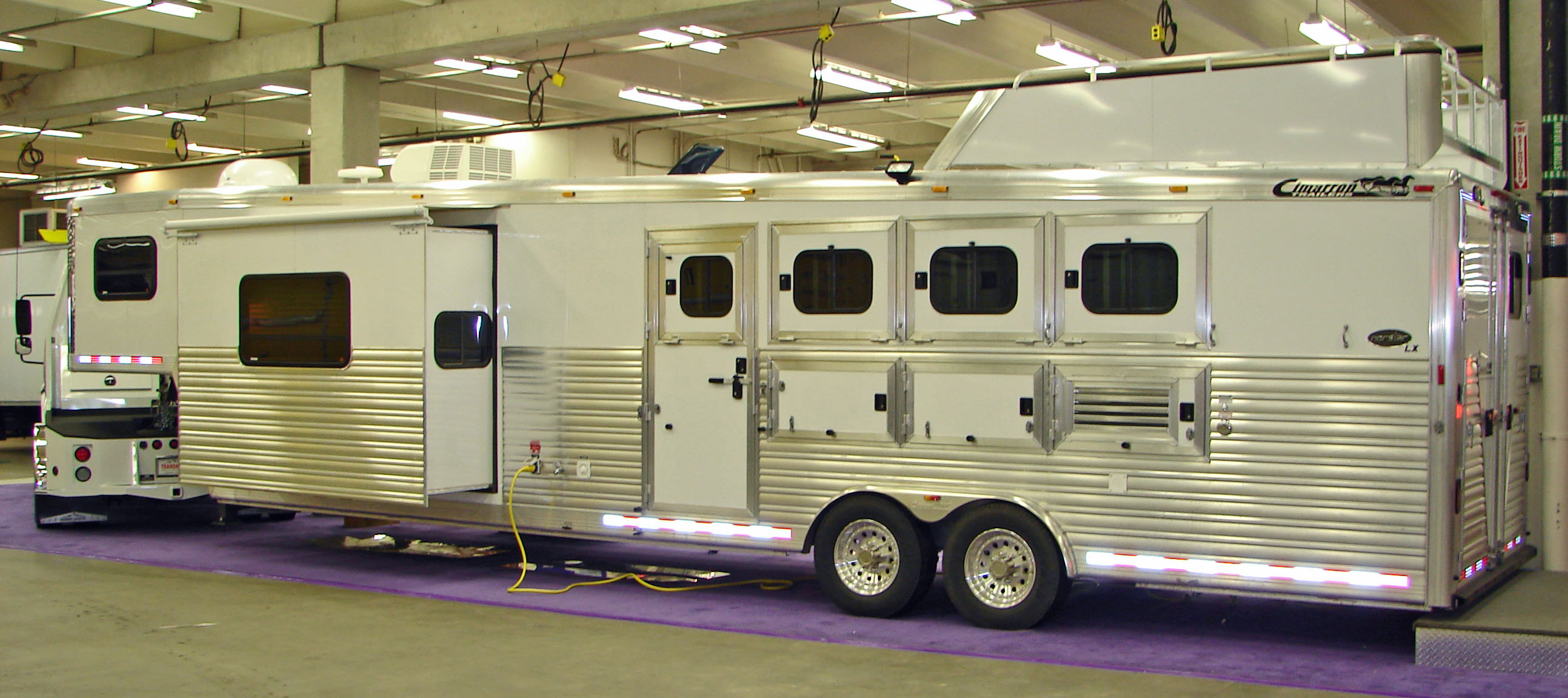 Cimarron Horse Trailer Wedge Design Saves Fuel