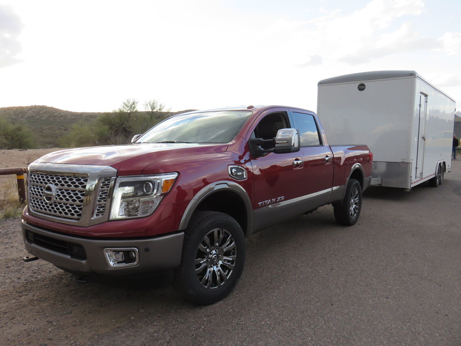 nissan titan xd diesel 2016 disrupter. Black Bedroom Furniture Sets. Home Design Ideas