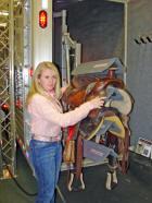 Saddlematic power saddle rack