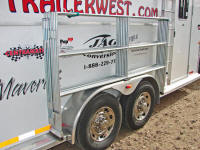 Travel n corrals mounted on horse trailer