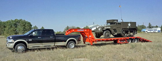 Load-Trail flatbed gooseneck trailer