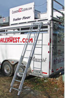 Step Above trailer ladder