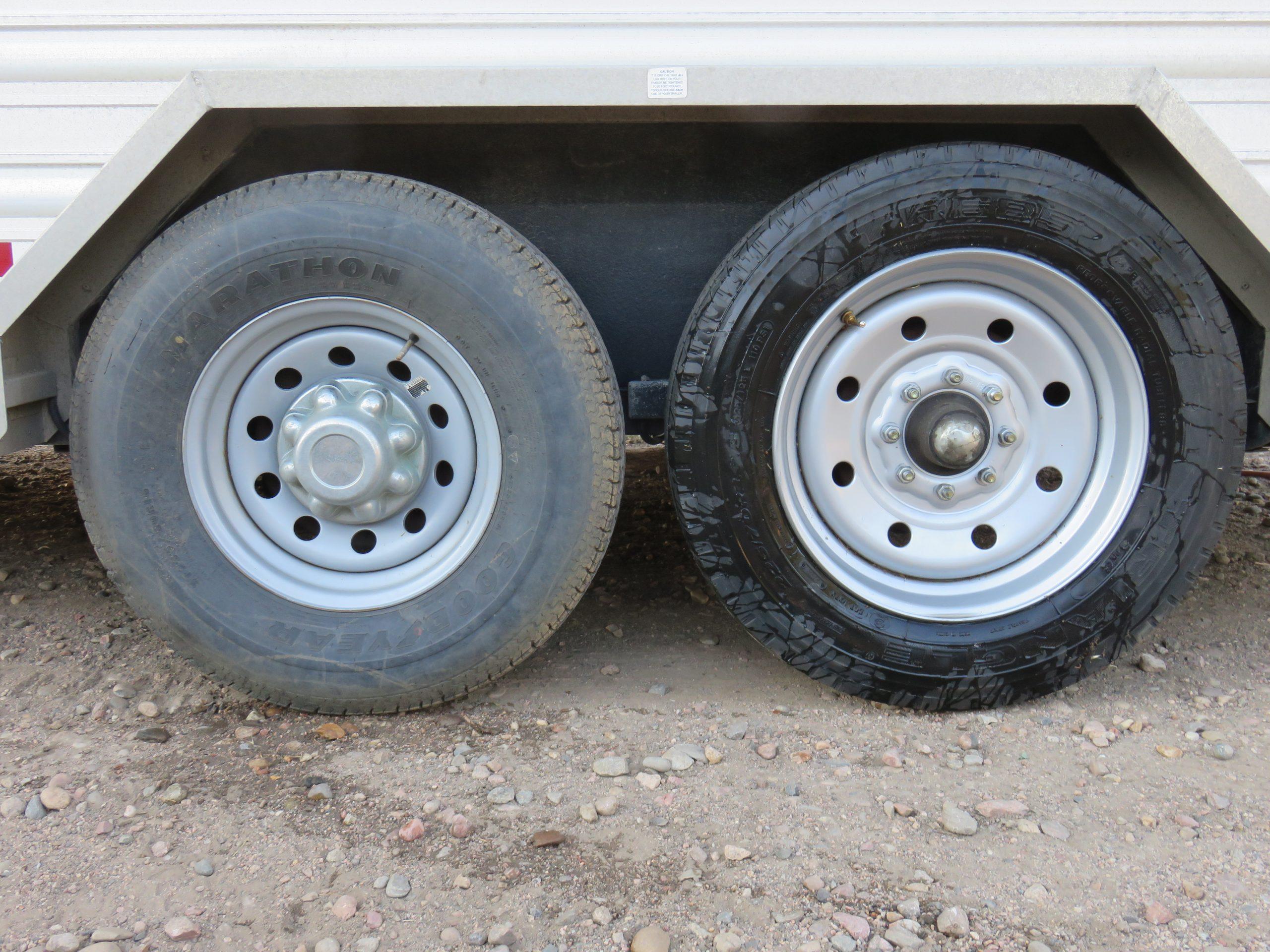 boar trailer tire and wheel