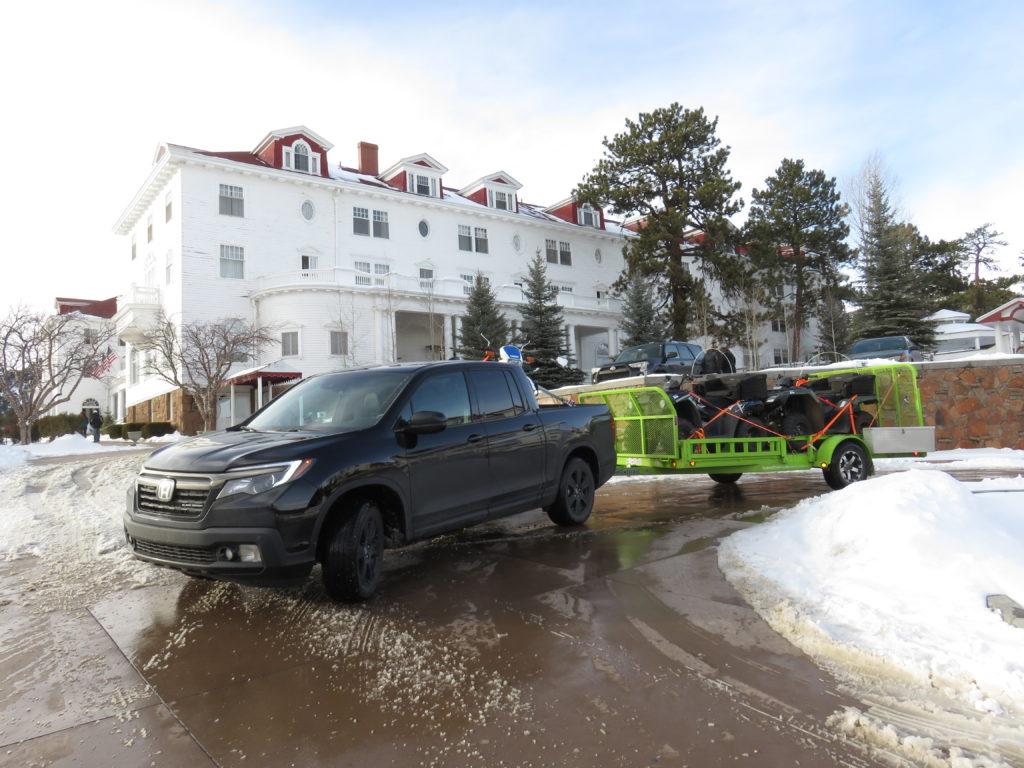New Honda Ridgeline First drive with trailer