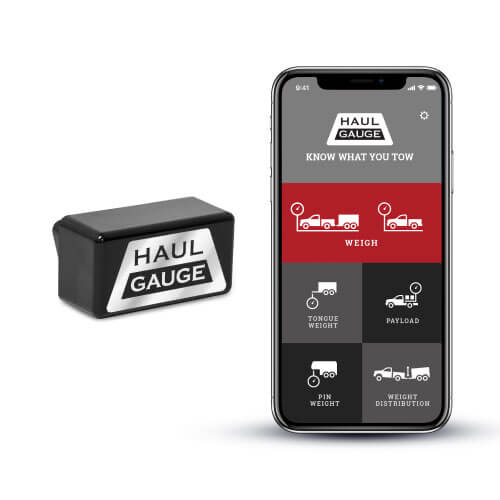 Haul Gauge plugged into your trucks OBDII port displays